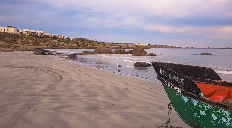 Paternoster beach with fishing boat