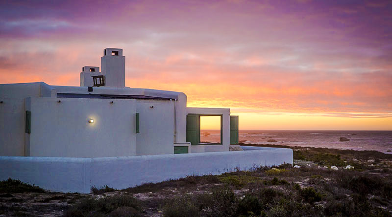 Classic Paternoster style House at sunset
